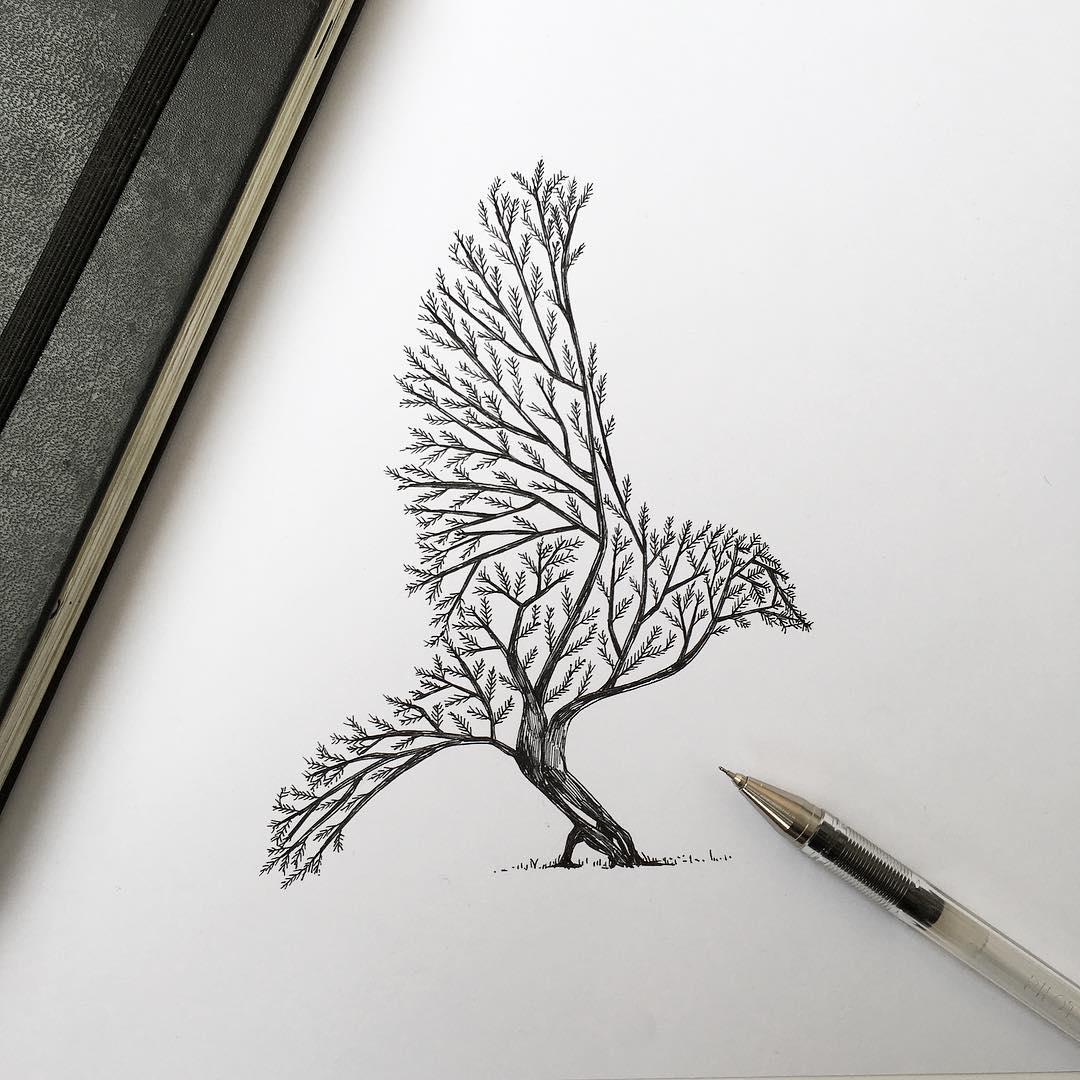 Dessins réalisés au stylo