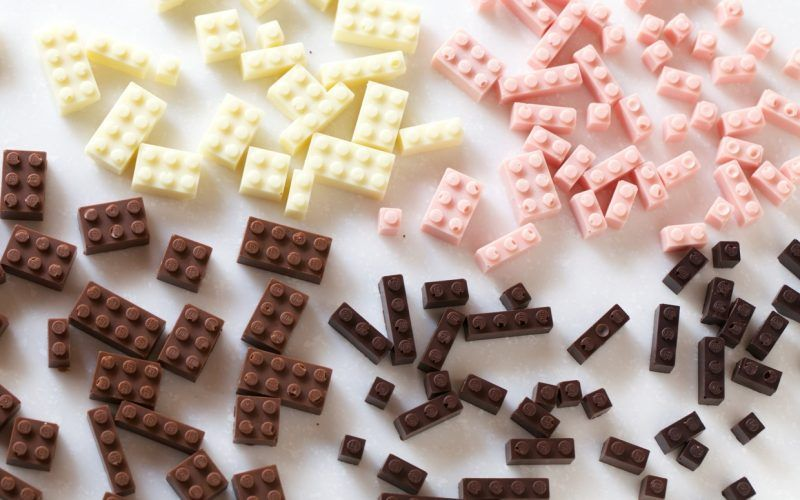 LEGO en chocolat