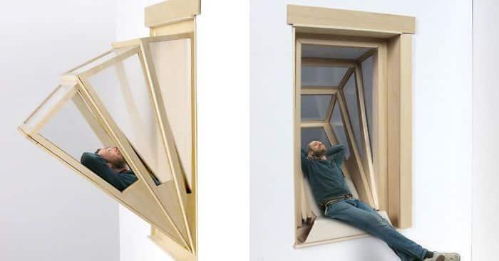 fenêtre qui se transforme en balcon