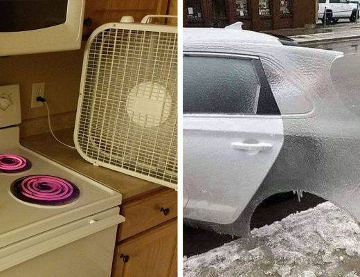 froid en Amérique du Nord