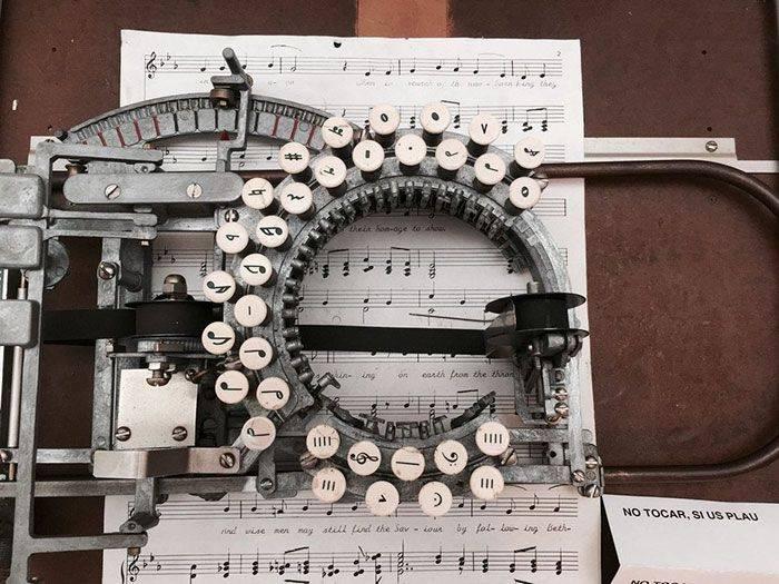 machine à écrire de la musique