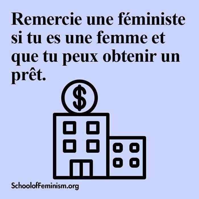 remercier une féministe