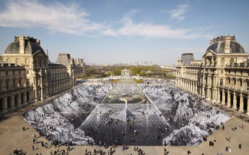 Louvre avec une illusion