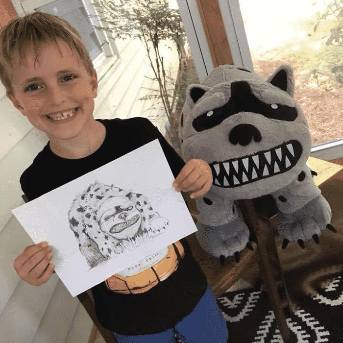 dessins d'enfants en peluches