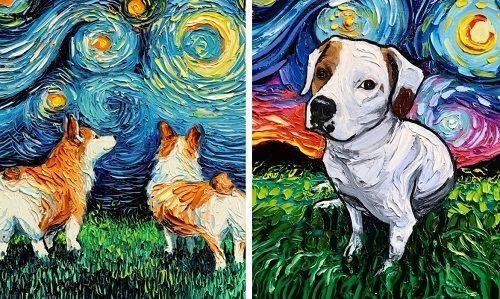 Van Gogh avec des chiens