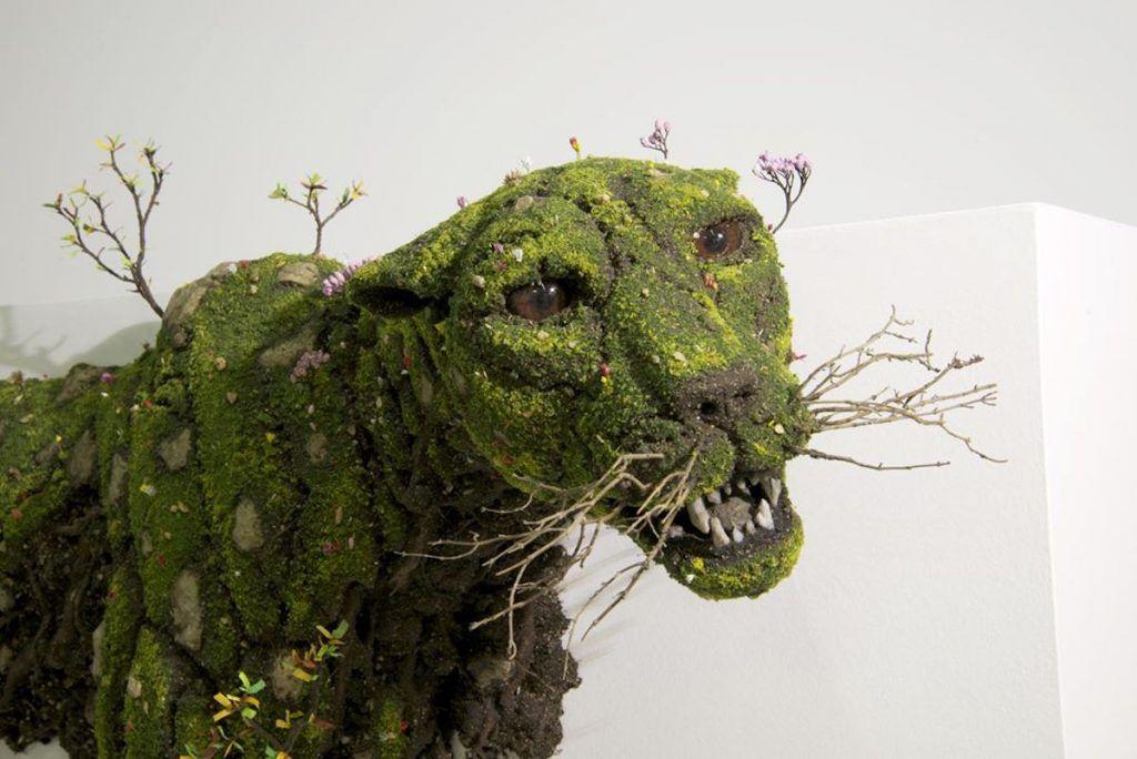 sculptures de plantes