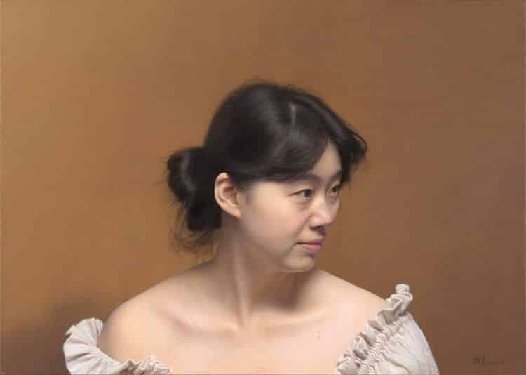 Peinture hyperréaliste de Leng Jun