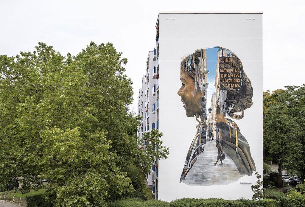 Cette Peinture Murale Géante Ressemble à Une Photo à Double