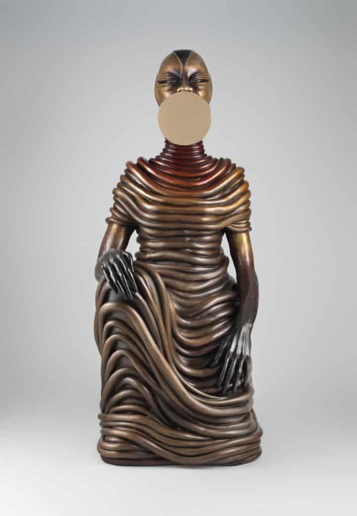 culptures en bronze de femmes africaines