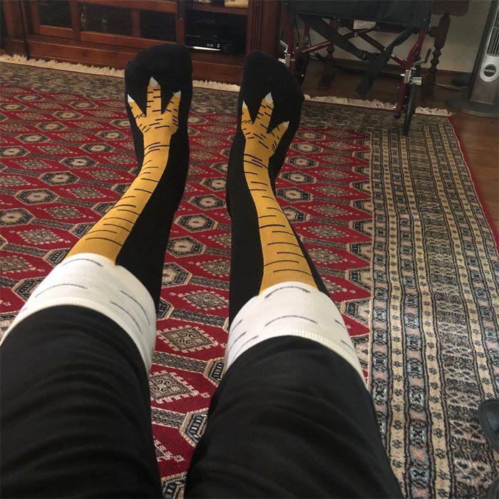 chaussettes pattes de poulet