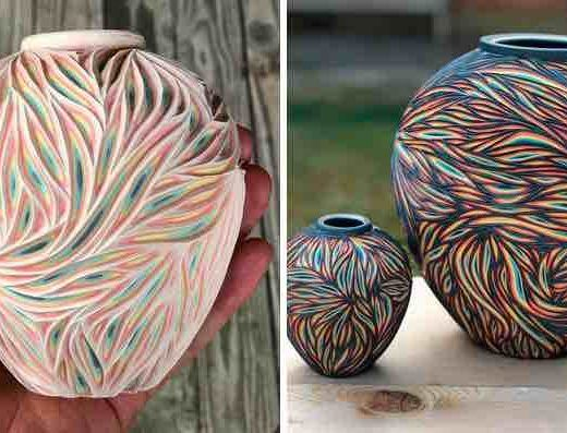 sculpte des poteries