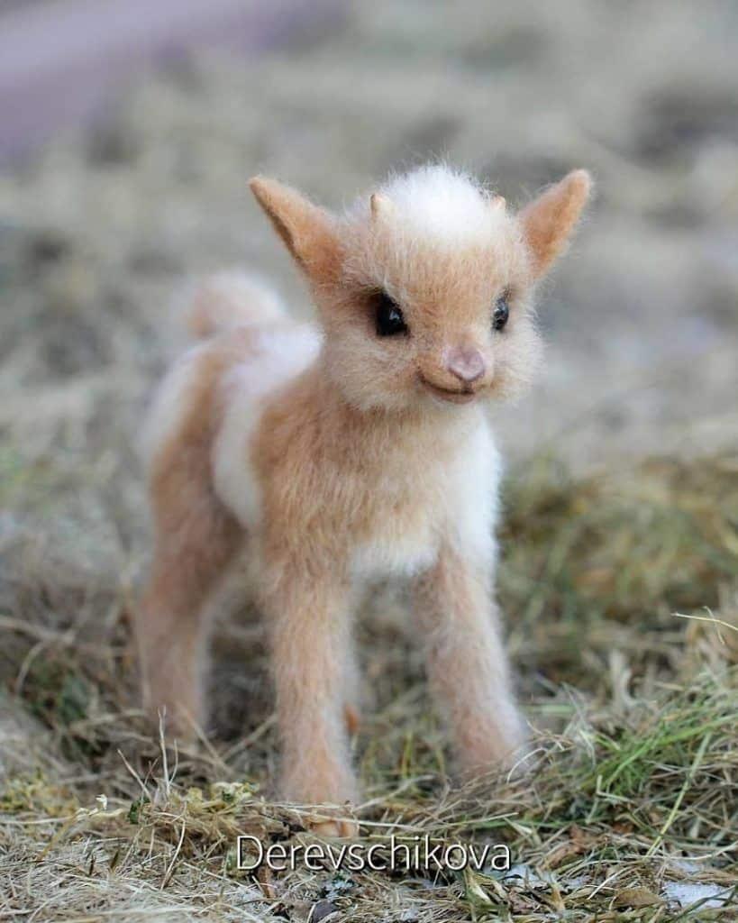 animaux en laine feutrée