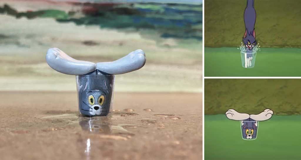 Tom et Jerry en sculptures