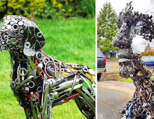 sculptures d'animaux