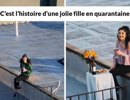 fille danser sur un toit