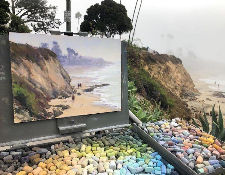peintures au pastel