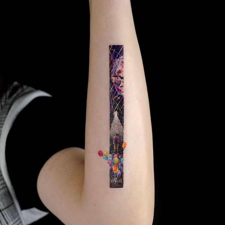 tatouages rectangulaires