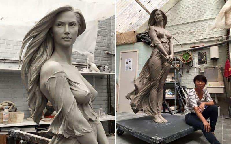 sculptures féminines