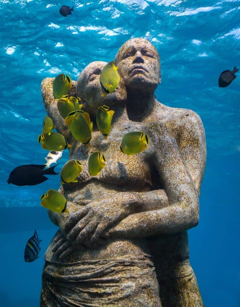 sculpture sous-marine