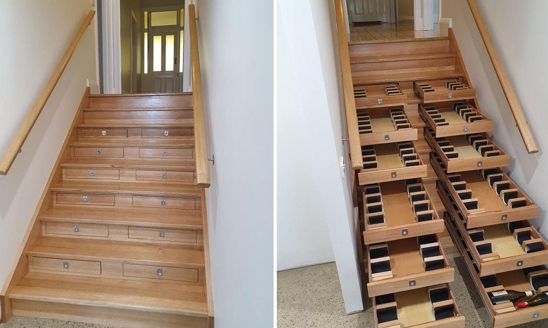 escalier cave à vin