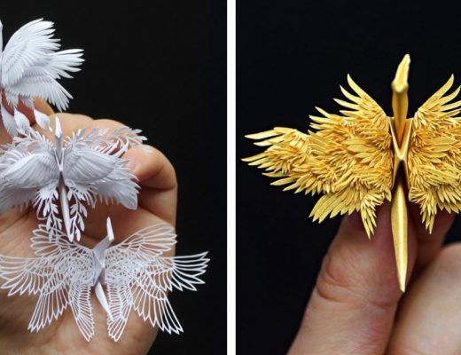 grues origami