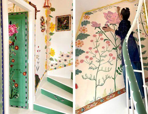 belles fleurs sur tous ses murs