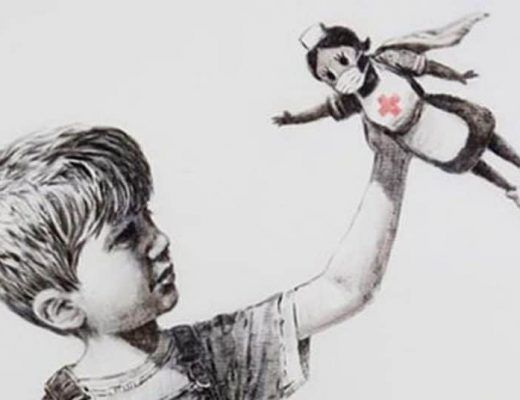 Banksy met en scène une infirmière