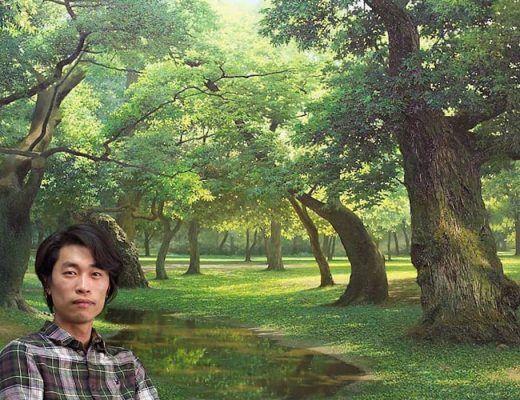 peintures hyperréalistes de la nature