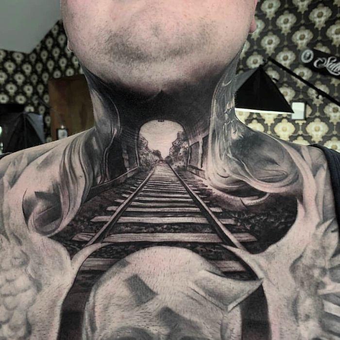 tatouages de cou