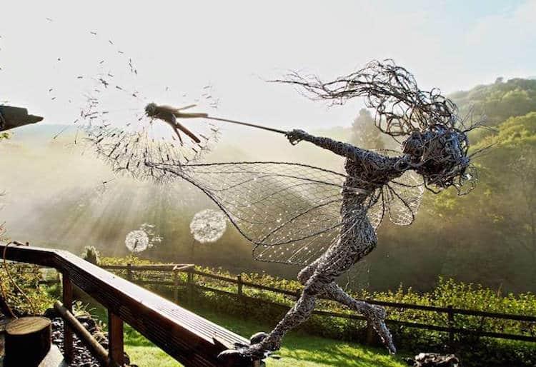 sculptures en fil