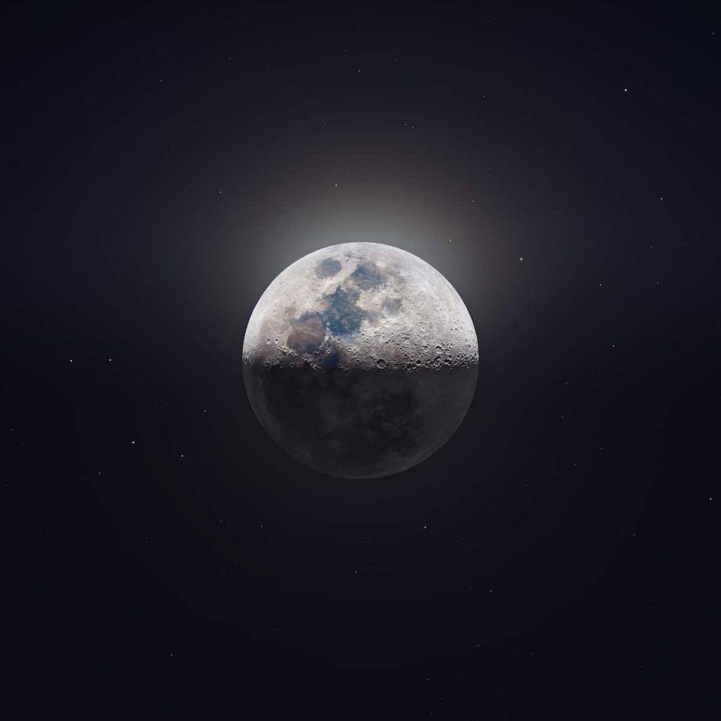 Photo haute définition de la lune par Andrew McCarthy