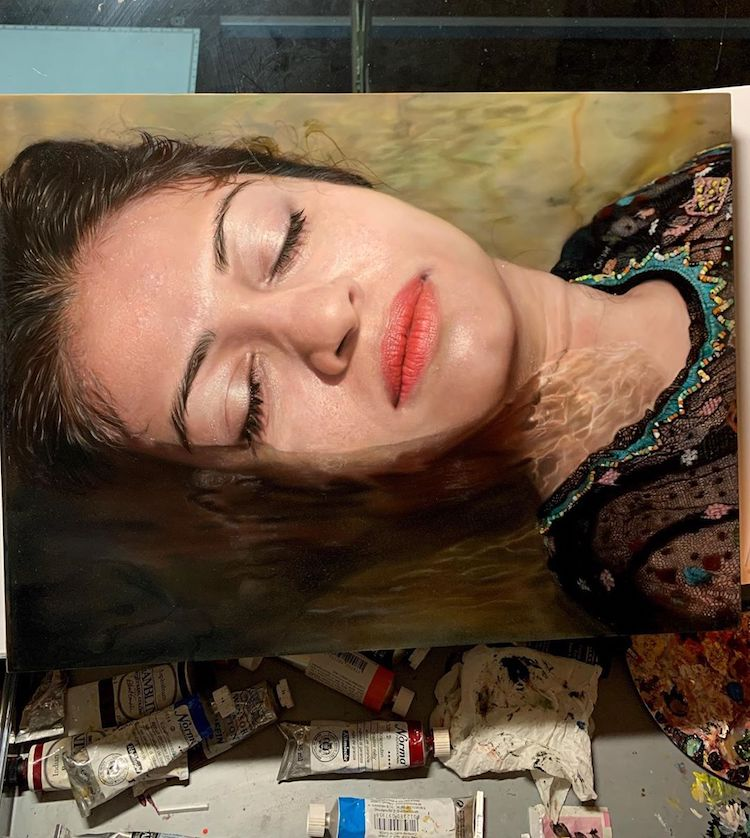 peintures huile hyperréalistes