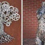 sculptures métalliques