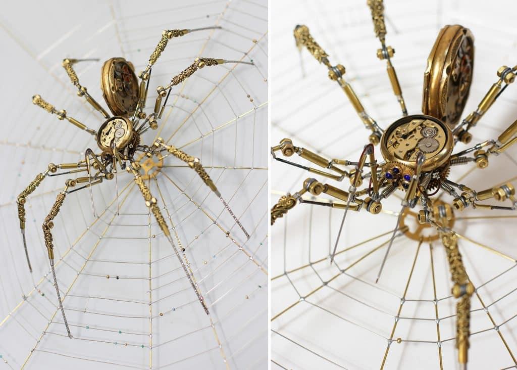 sculptures d'araignées
