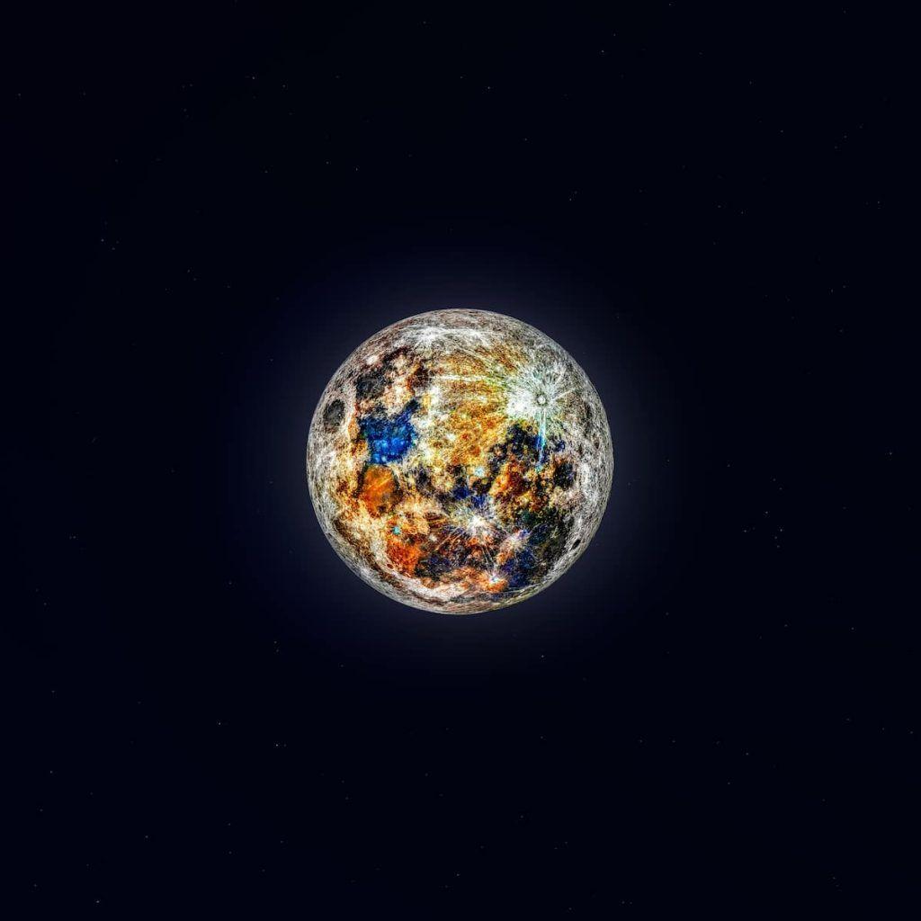 couleurs cachées de la lune