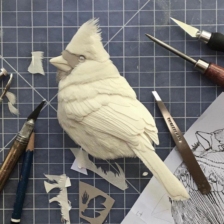 animaux en papier