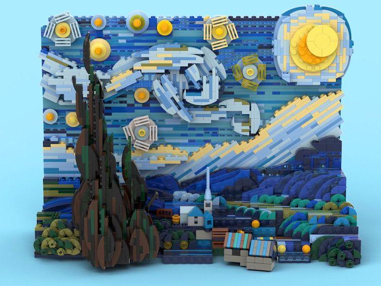 Vincent van Gogh LEGO 3D