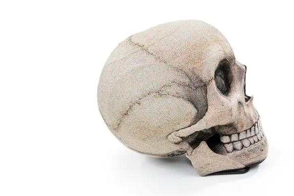 pouf crâne humain