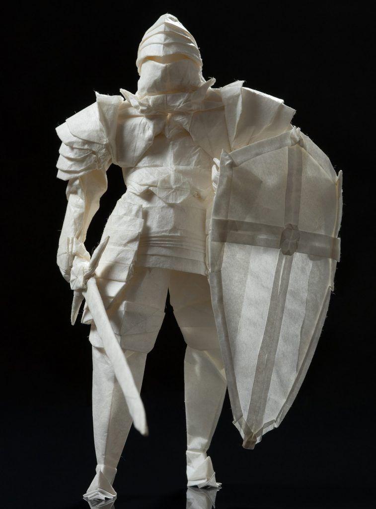 Un chevalier en origami